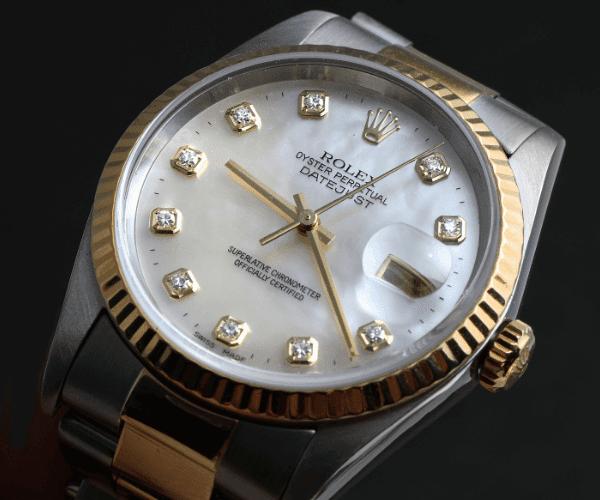 Datejust Diamond with diamond hour markers