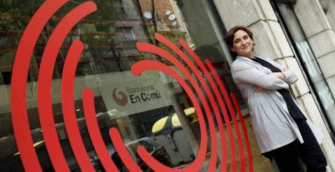 Ada Colau en la sede de Barcelona en Comu. REUTERS/Albert Gea