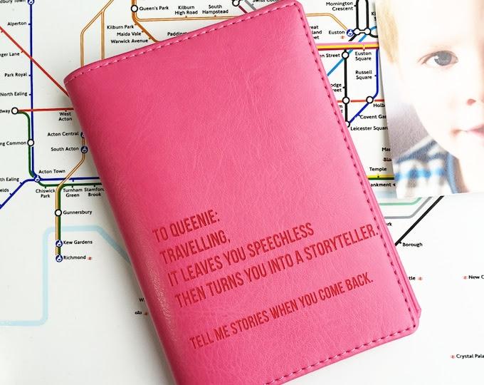 World Destinations Passport Holder|Personalised PU leather. Personalised passport cover him her Father's Mother's students travel lover gift