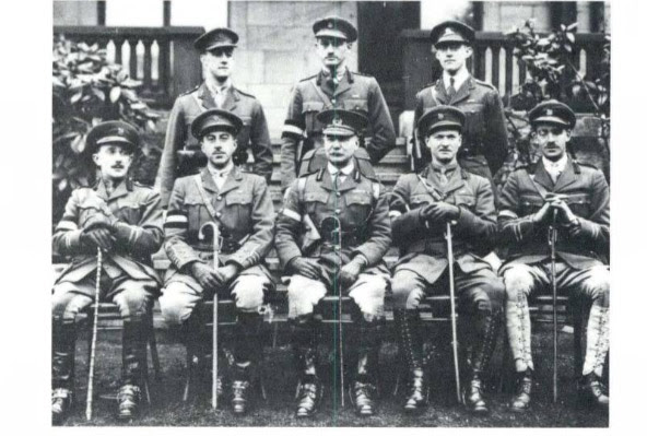 Captain Harry Crerar, front row, second from the left.
