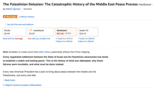 """Days after release, The Palestinian Delusion is """"#1 Best Seller in African History"""" (Yes, """"African History"""")"""