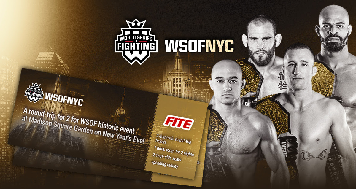 Win cageside seats for two at WSOF's biggest event of the year