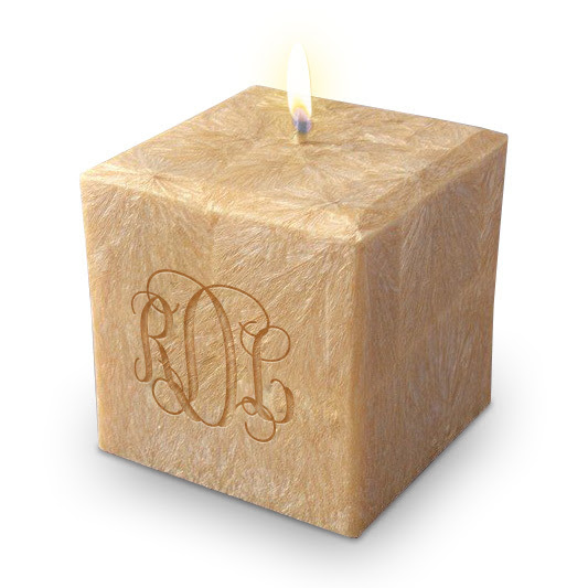 Monogrammed Candle