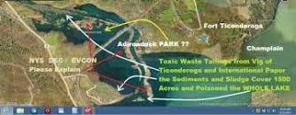 Image result for poisoning lake champlain flushing lake george