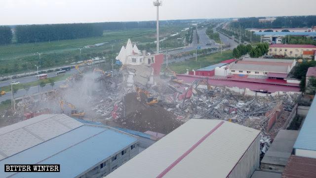 Die wahre Jesuskirche wurde in Ruinen verwandelt