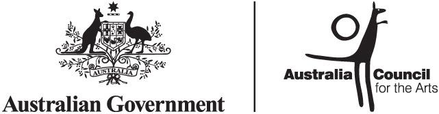Australia Council master horiz mono logo
