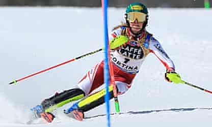 Sensational Liensberger ends Mikaela Shiffrin's slalom reign at worlds