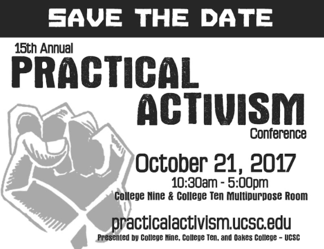 Save the Date Practical Activism Conference flyer