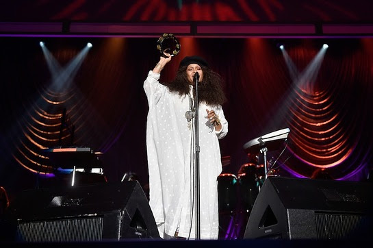 Erykah Badu performs during the 2016 Neighborhood Awards