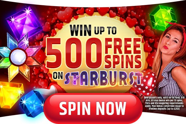 Win 500 Free Spins on Starburst