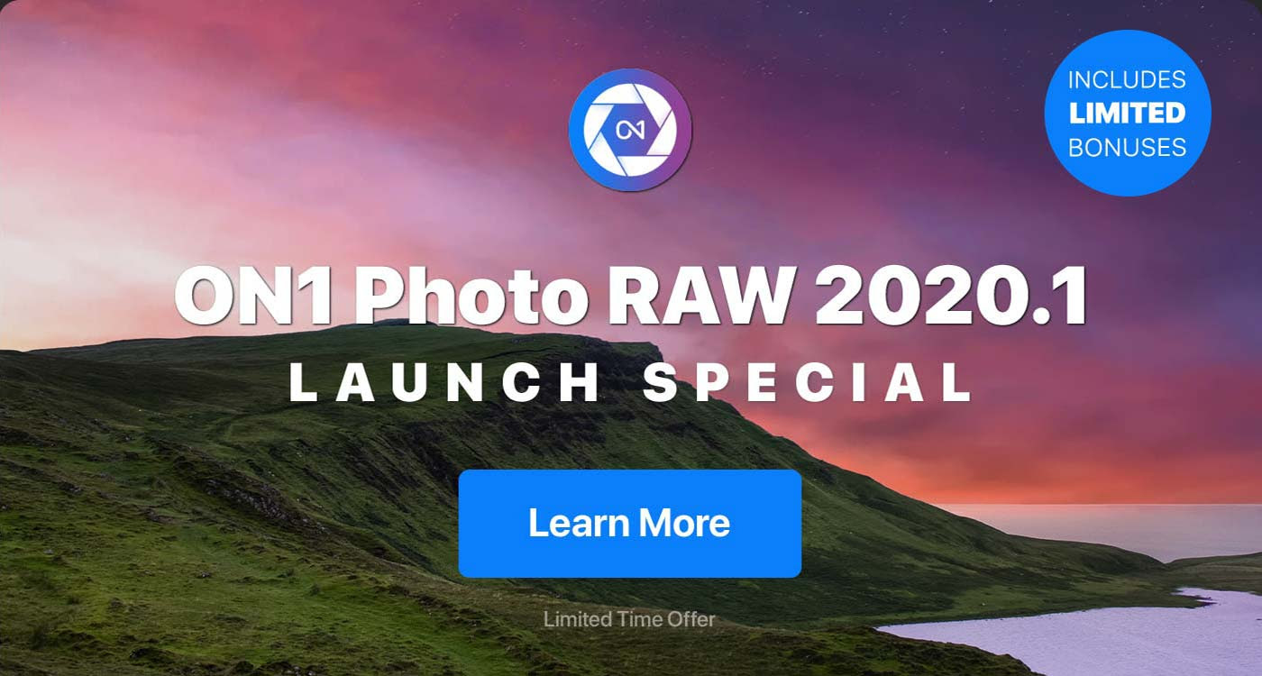 ON1 Photo RAW 2020.1 - Launch Special Discount Coupon