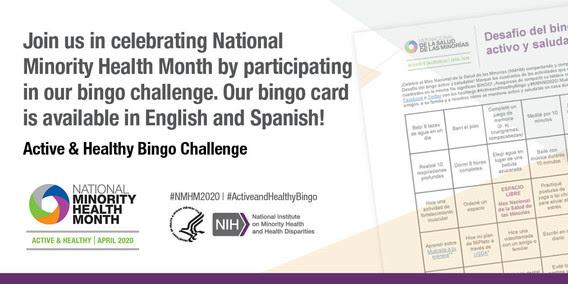Active and Healthy Bingo Challenge
