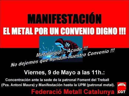 Manifestación 9 MAYO Metal por un convenio digno