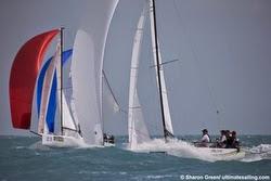 J/70s sailing off Key West, FL at Race Week