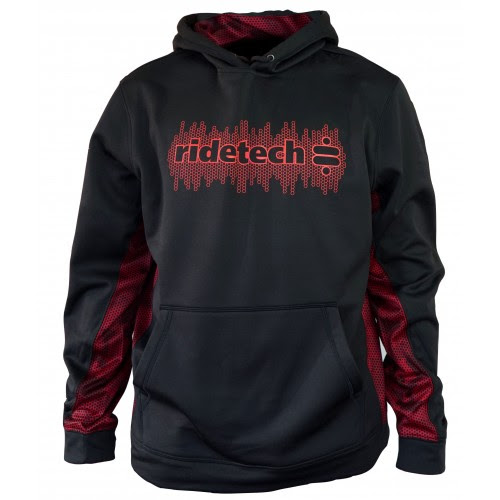 Black and Red Tech Hoodie