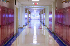 Picture of school hallway