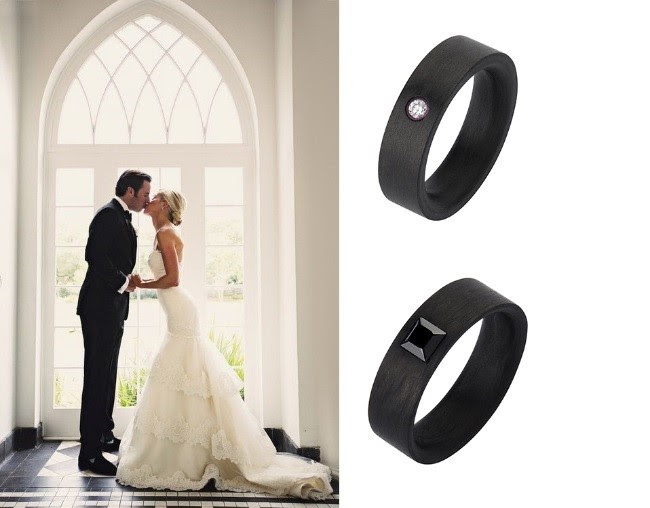 кольца обручки з карбону