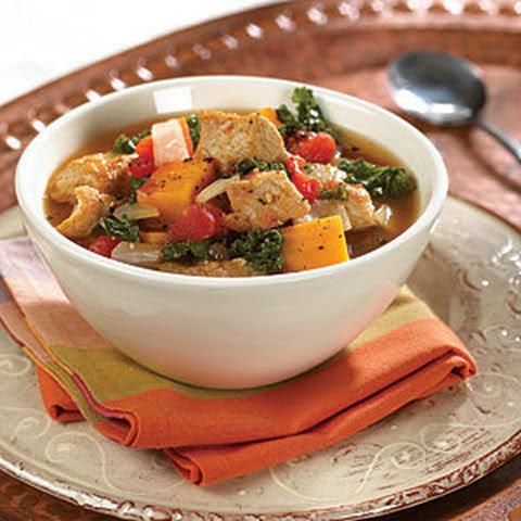 Tuscan Pork Tenderloin Stew with Cremini Mushrooms, Root Vegetables & Kale