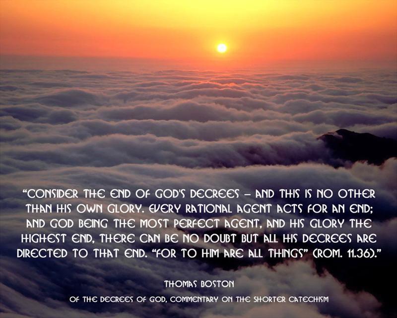God's Decree Quote by Thomas Boston