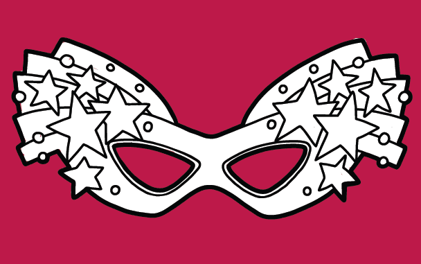 Purim Mask Coloring Pages