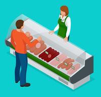 Retail deli counter