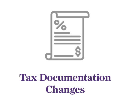 Changes to tax documentation