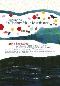 Affiche de l'exposition d'Anne Herbauts