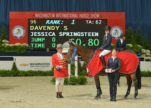 Jessica Springsteen and Davendy S in their winning presentation