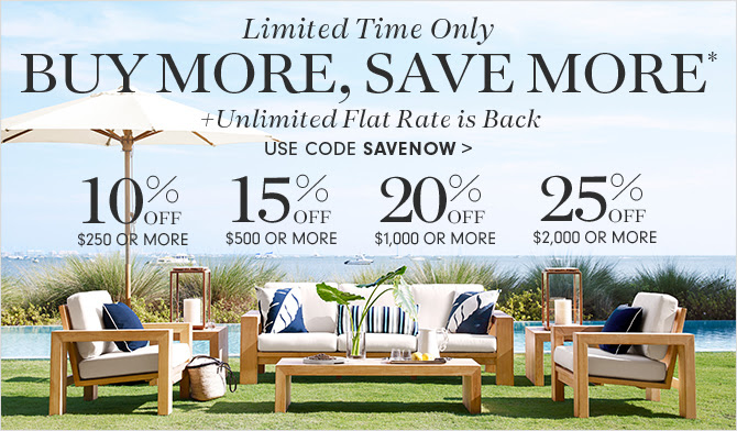 Limited Time Only - BUY MORE, SAVE MORE* + Unlimited Flat Rate is Back - USE CODE SAVENOW