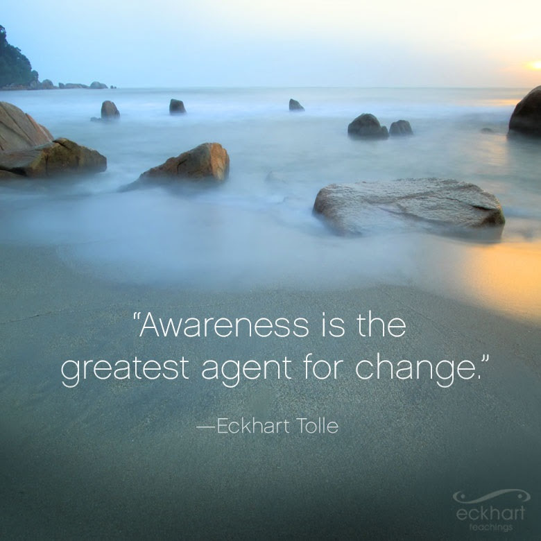 """""""Awareness is the greatest agent for change."""""""