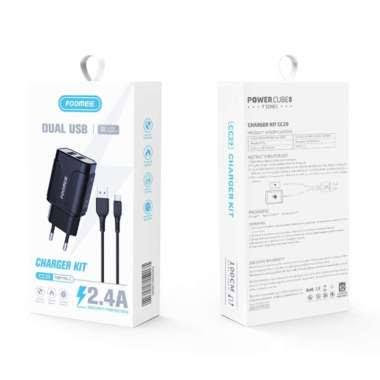 Foomee CC29 Charger Set Dual USB Output 2.4A [Type-C Cable]