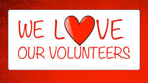 Heart - we love our volunteers