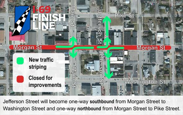New Downtown Martinsville traffic pattern