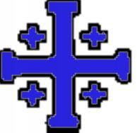 NCCL's Jerusalem Cross logo - blue