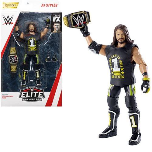 Image of WWE Wrestling Top Picks Elite Wave 2 - AJ Styles Action Figure (RE-STOCK)