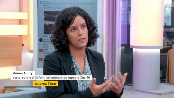 """VIDEO. Manon Aubry, porte-parole d'Oxfam : """"Les bénéfices sont essentiellement redistribués aux actionnaires"""""""