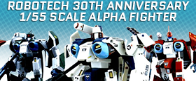 ROBOTECH 1/55 SCALE ALPHA FIGHTERS TRANSFORMABLE FIGURES