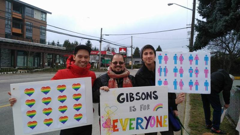 OiS SSC Tour 2016 - Gibsons Counterprotest
