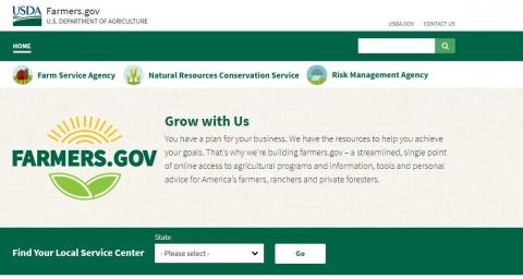 The Farmers.gov website