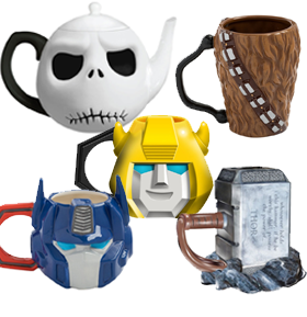 NEW MUGS, CUPS, & KITCHENWARE