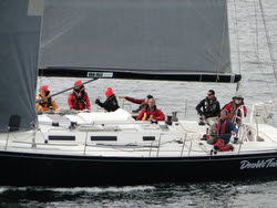 J/145 DoubleTake sailing Van Isle 360 race