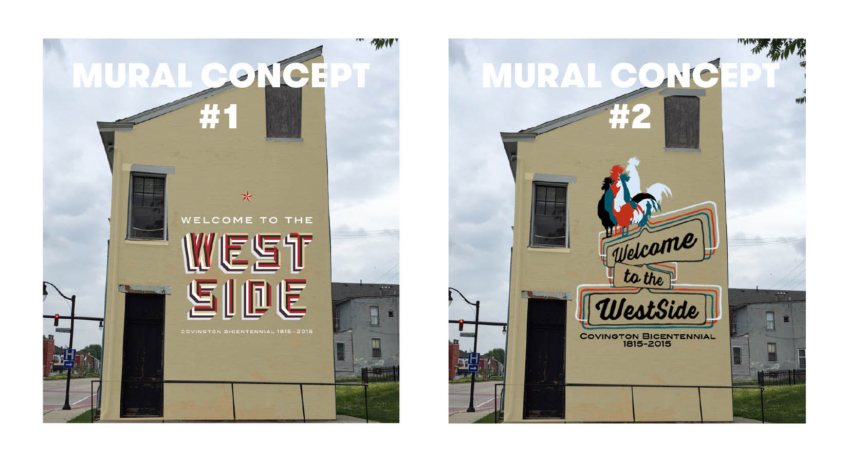 West Side Mural Concepts 1 & 2