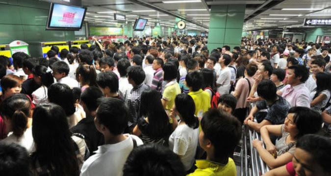 Crowded Guangzhou Metro