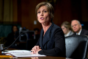 Sally Q. Yates, the acting attorney general, during a news conference in June.