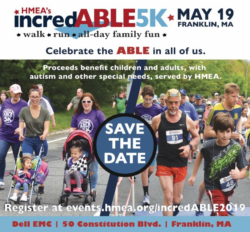 Save the Date - HMEA incredABLE 5K - May 19