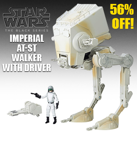 STAR WARS: THE BLACK SERIES IMPERIAL AT-ST WALKER & DRIVER