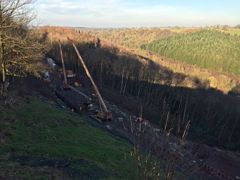 Next phase of works underway as reopening of historic railway line gets ever closer