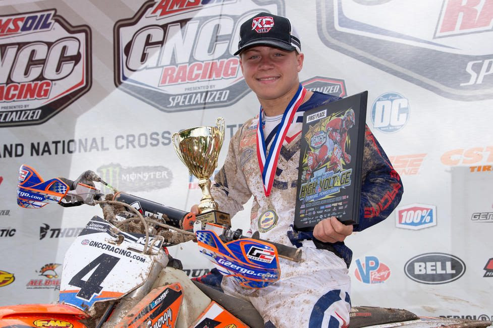 Joseph Cunningham claimed his ninth-straight youth overall and YXC1 Super Mini Sr. class win.