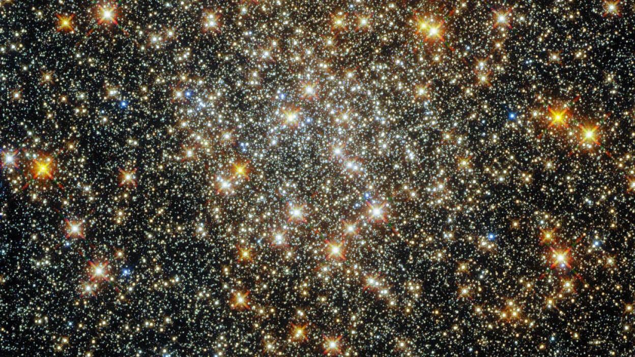 Hubble looks deep into </div> <br class=