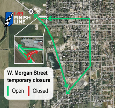 Morgan Street detour map
